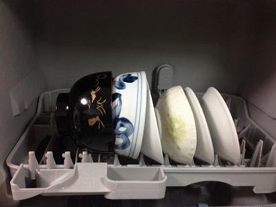 食洗機食器が重なる1