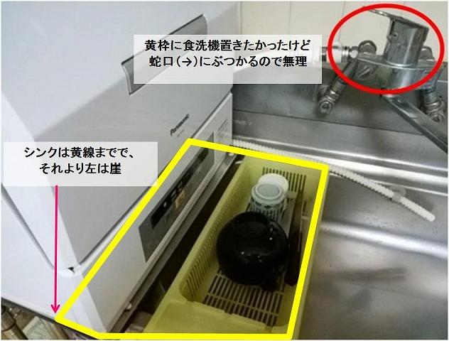 食洗機が置けない