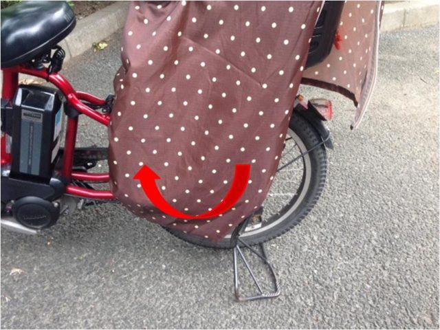 ガーリーマミー自転車レインカバー乗せ下ろし2