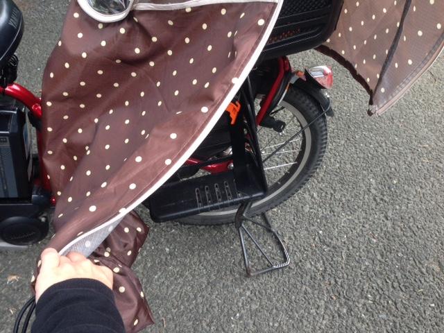 ガーリーマミー自転車レインカバー取り付け方3